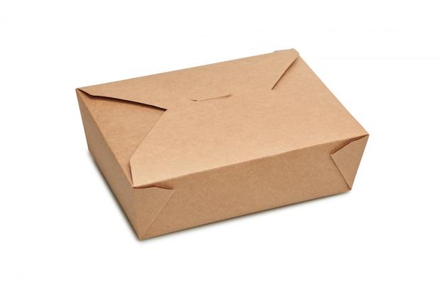 Entrega caja de cartón en blanco para alimentos listos para comer