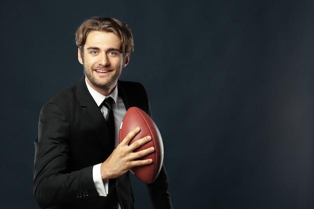Entrenador, negocios, deporte en negro