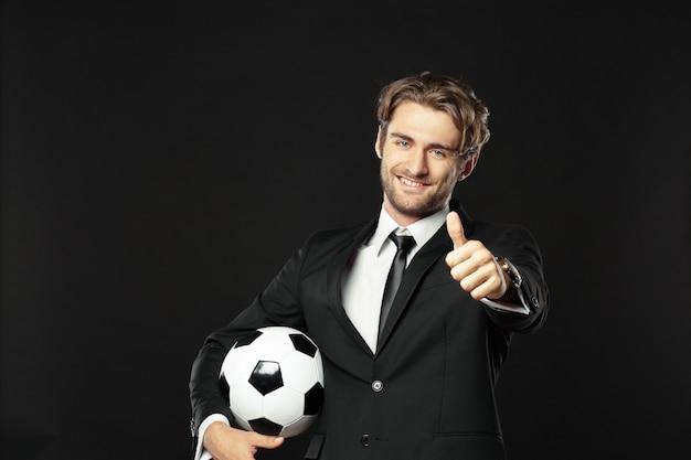 Entrenador, negocios, deporte sobre negro