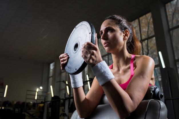 Entrenamiento con barra de pesas