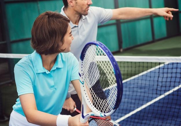 Entrenamiento de jugadores de tenis