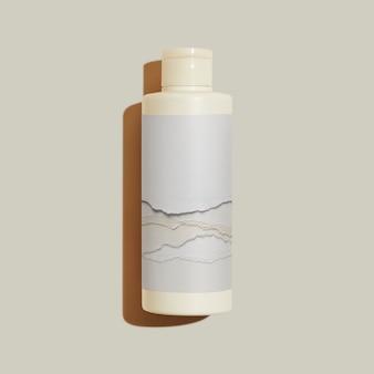 Envasado de productos de belleza para botellas de cuidado de la piel.