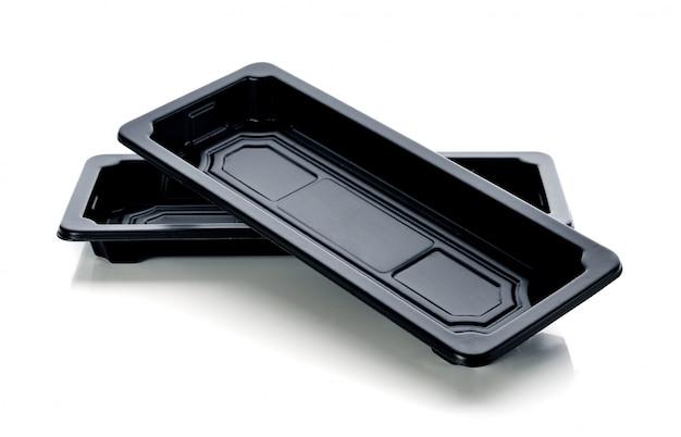 Envase de plástico aislado en blanco