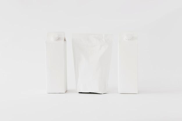 Envases de cartón y papel para productos lácteos.