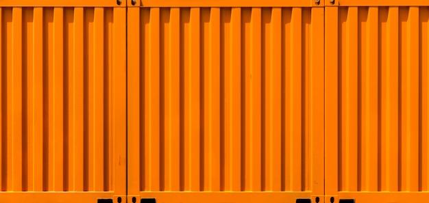 Envío de contenedores de carga naranja