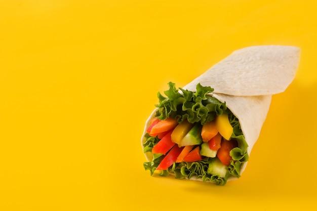 Envolturas de tortilla de vegetales