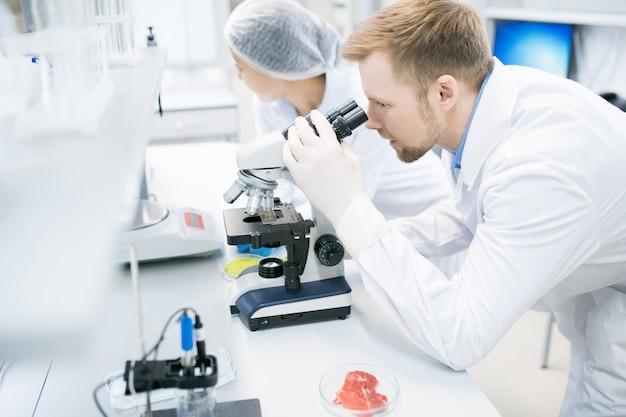Equipo de científicos en laboratorio