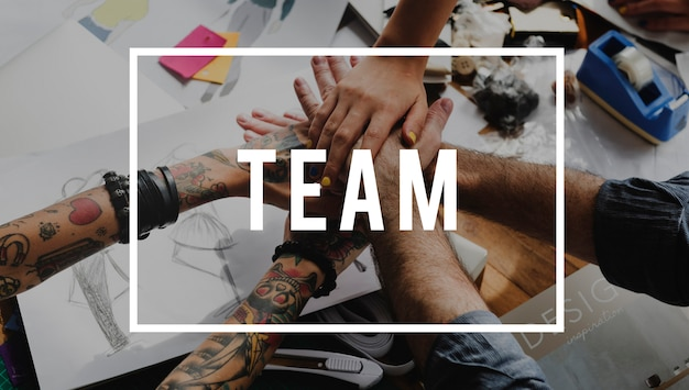 Equipo de colaboración juntos podemos intercambiar ideas