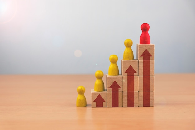 Equipo de desarrollo de negocios de recursos humanos y talento y reclutamiento, desarrollo personal del empleado en la organización