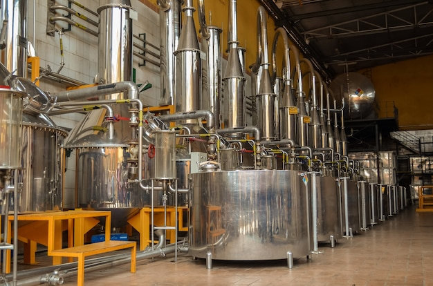 Equipo para la destilación de bebidas alcohólicas, destilación de tequila.