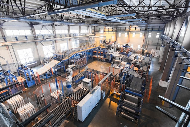 Equipo de la industria de producción de fibra de vidrio en la fabricación