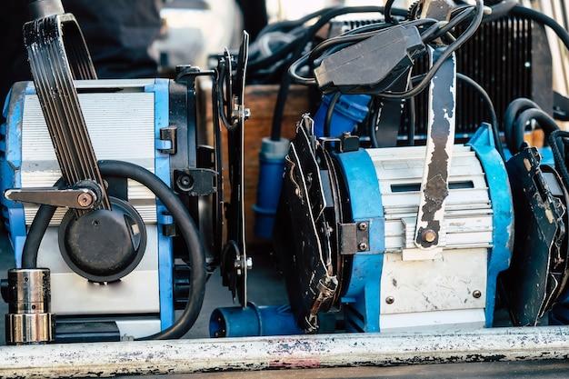 Equipo de producción de equipo de filmación.