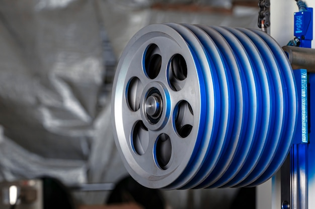 Equipo de producción de metal en la planta de cables de cerca