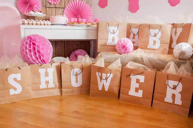 Es una chica. baby shower decoración para fiesta.