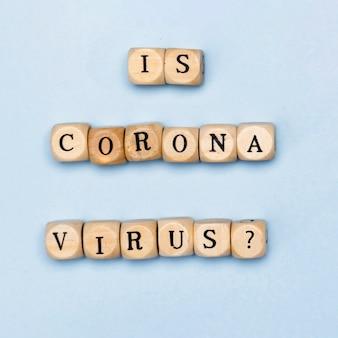 Es la vista superior del concepto de coronavirus