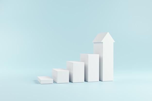 Escalera blanca para el éxito del crecimiento.