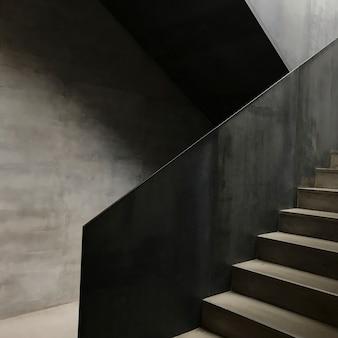 Escalera de hormigón moderna