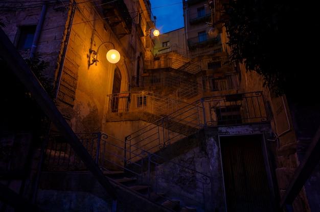 Escalera llamada scala musumeci en leonforte