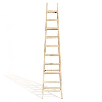 Escalera de mano de madera