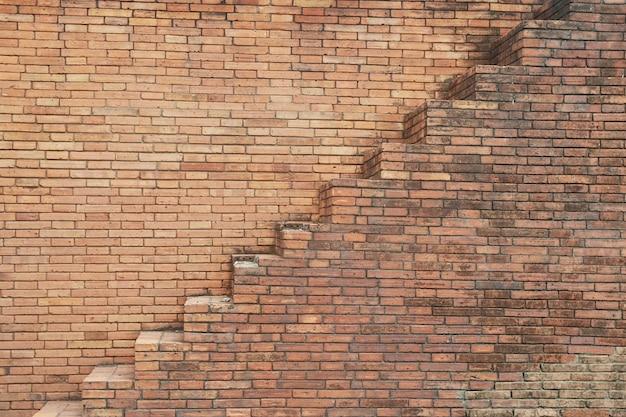 Escalera en pared de bloque