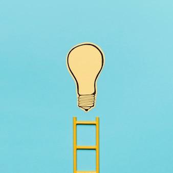 Escalera que alcanza la idea de la meta