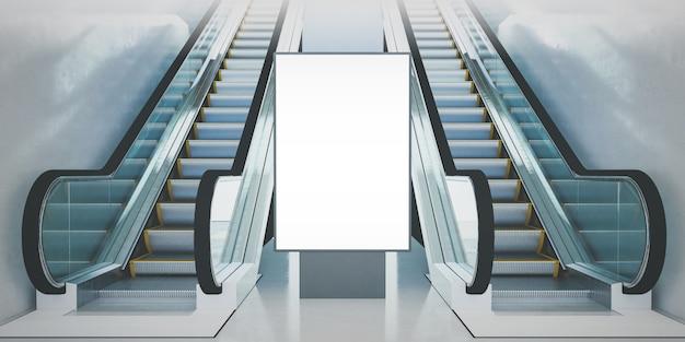 Escaleras mecánicas de la cartelera