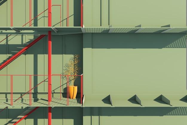 Escaleras del plan de la casa