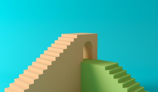 Escaleras y podio