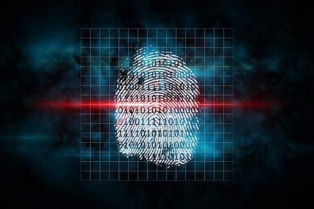 Escaneo digital de huellas digitales de seguridad
