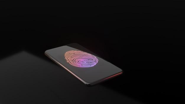 Escaneo de huellas dactilares para identificar personal en el teléfono inteligente