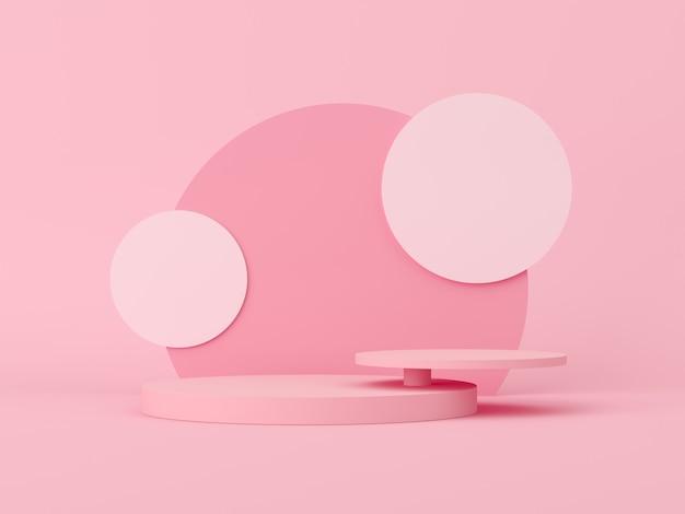 Escena abstracta para exhibición. renderizado 3d