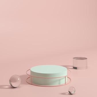 Escena de fondo abstracto para exhibición de productos. representación 3d