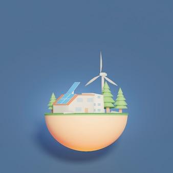Escena del proyecto de entorno 3d