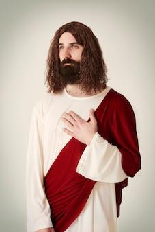 Escena tranquila de jesucristo