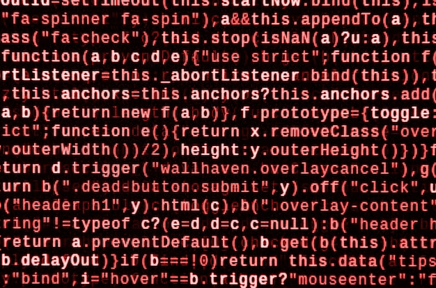 Escribir código de programación en la computadora portátil. datos binarios digitales en la pantalla de la computadora