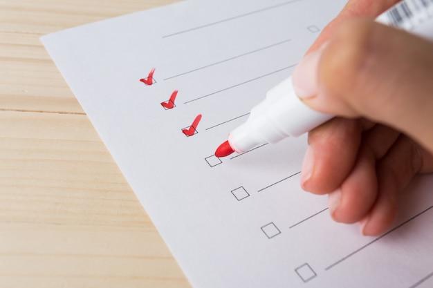 Escribir para hacer la lista