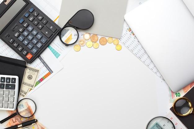 Escritorio oficina negocio contabilidad financiera calcular