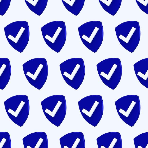 Escudo de protección de patrones sin fisuras. icono de control de seguridad.