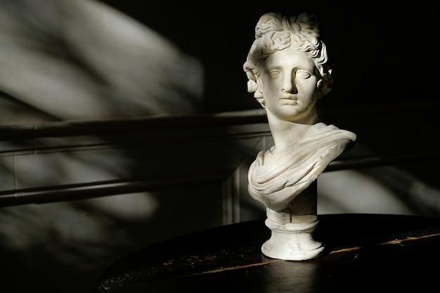 Escultura del busto romano