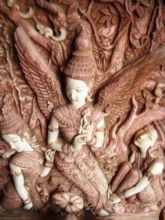 Escultura de piedra oriental