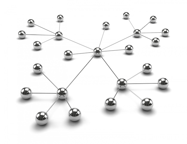 Esferas metálicas vinculadas