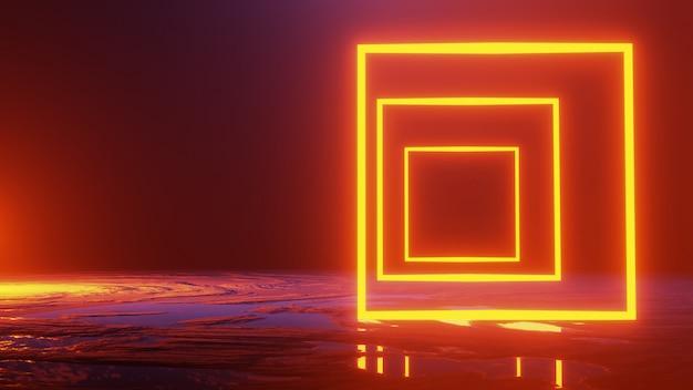 Espacio abstracto de viajes, concepto de universo, render 3d