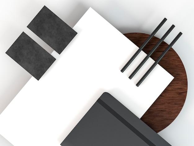 Espacio de copia de arreglo de papelería comercial