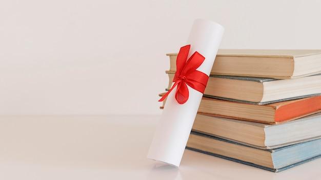 Espacio de copia de certificado de diploma de educación