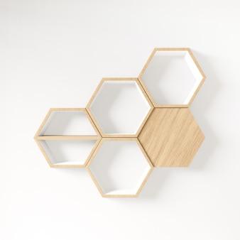 Espacio de copia de estante hexagonal, espacio de copia, maqueta, fondo hexágono