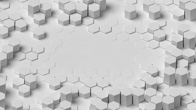 Espacio de copia de estructura de fondo geométrico blanco