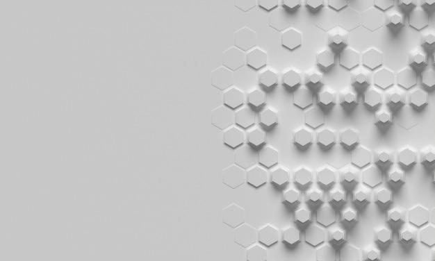 Espacio de copia de fondo de formas de panal