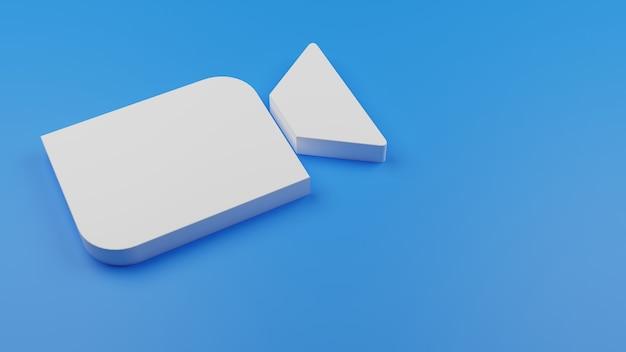 Espacio de copia de fondo de icono de logotipo de zoom 3d