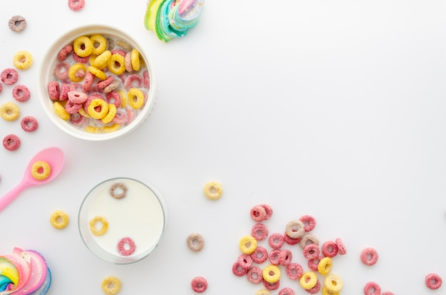 Espacio de copia de merienda de cereal saludable