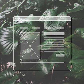 Espacio de copia de plantilla de interfaz de usuario de diseño de página web